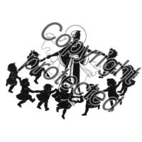 Dorcy Papercut Card – Ring Around The Rosary