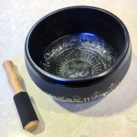 Etched Metal Singing Bowl