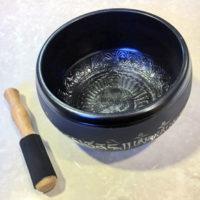 Etched Metal Singing Bowl