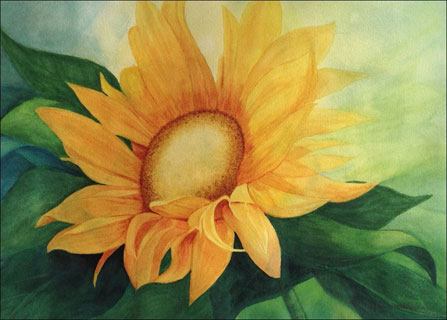 sunflower painting by Kate O'Brien