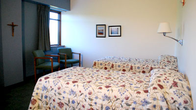 view of double room