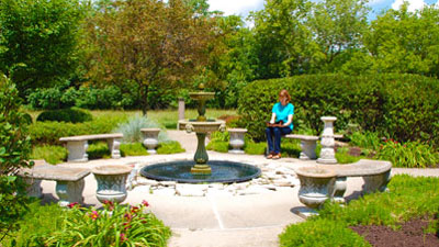 Weber Center's circle garden