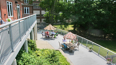 Weber Center deck