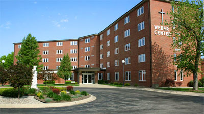 view of Weber Center from the front