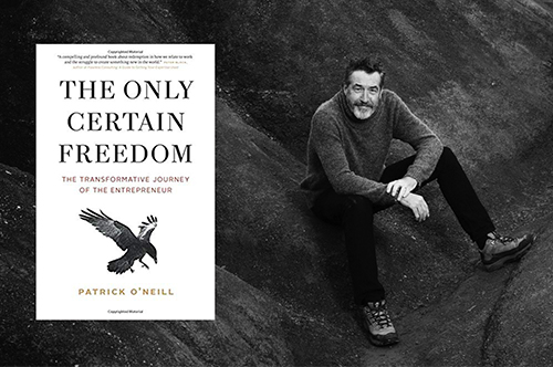 Patrick O'Neill and cover of his recent book