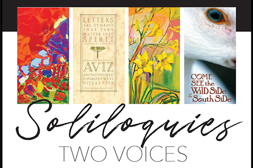 Soliloquies art exhibit postcard