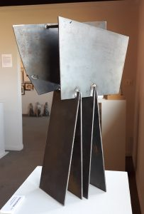 Sculpture by Ken Thompson titled Panels and Wedges