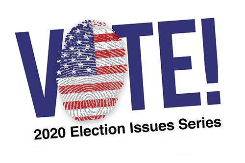 Image Of Text VOTE! 2020 Election Issues Series